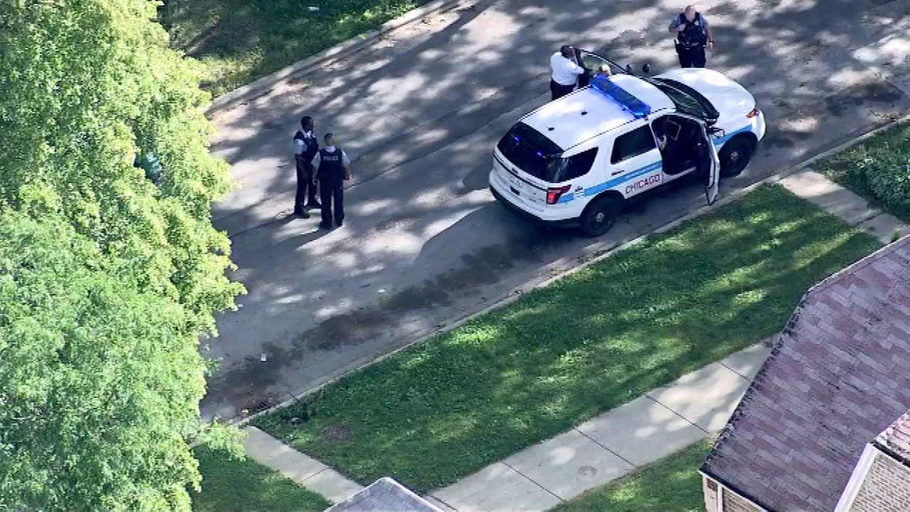 Police said a female was shot in the leg around 4 p.m. in the 200-block of West 108th Street.