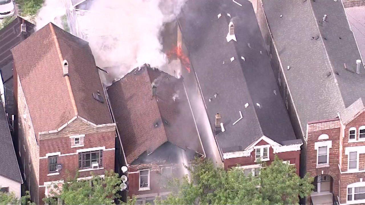 Pilsen house fire brought under control, crews chasing hotspots