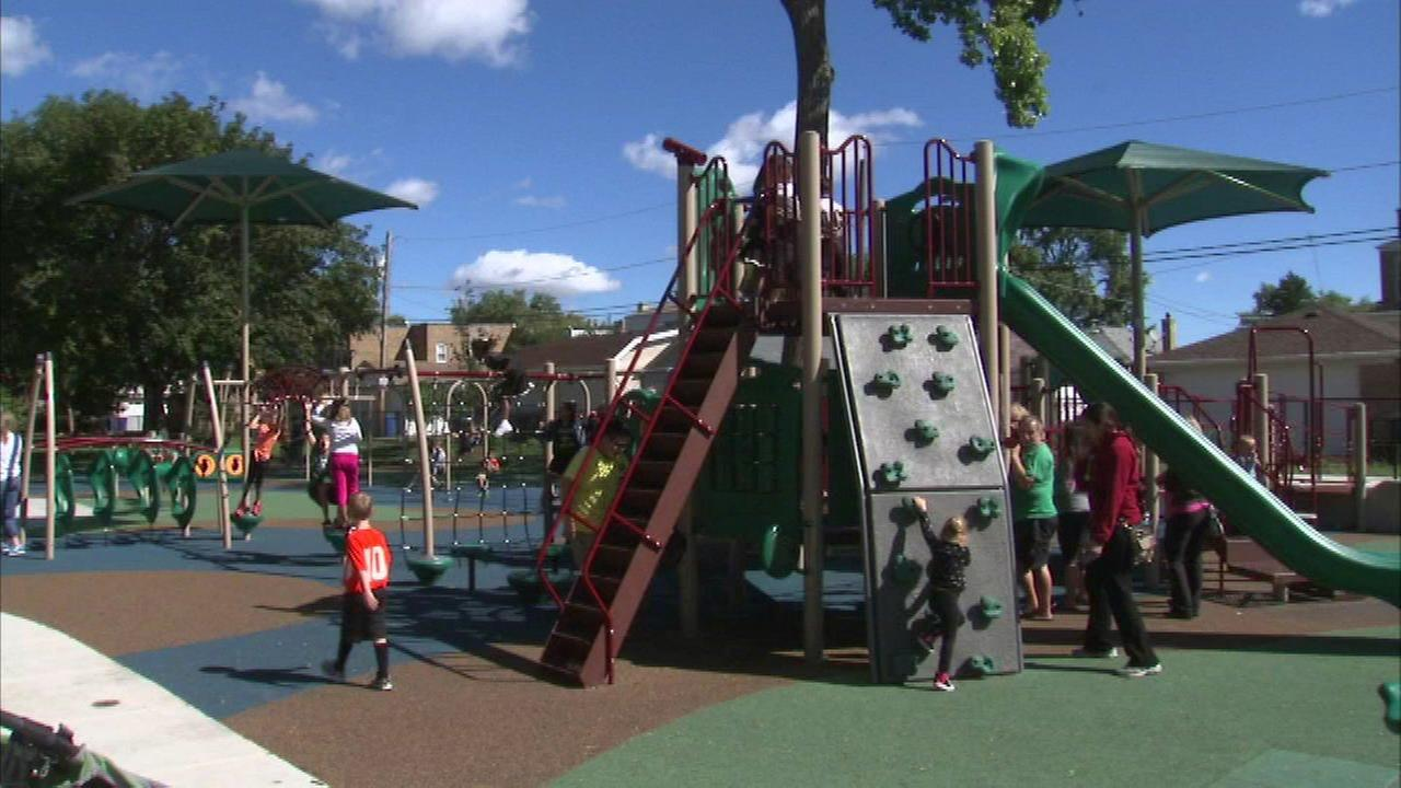 Chicagos playground renovation project is ahead of schedule, the city says.