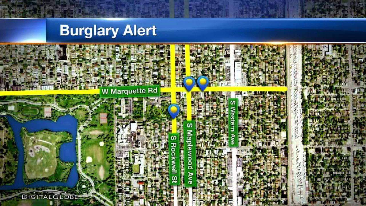 Burglars target 6 Southwest Side homes
