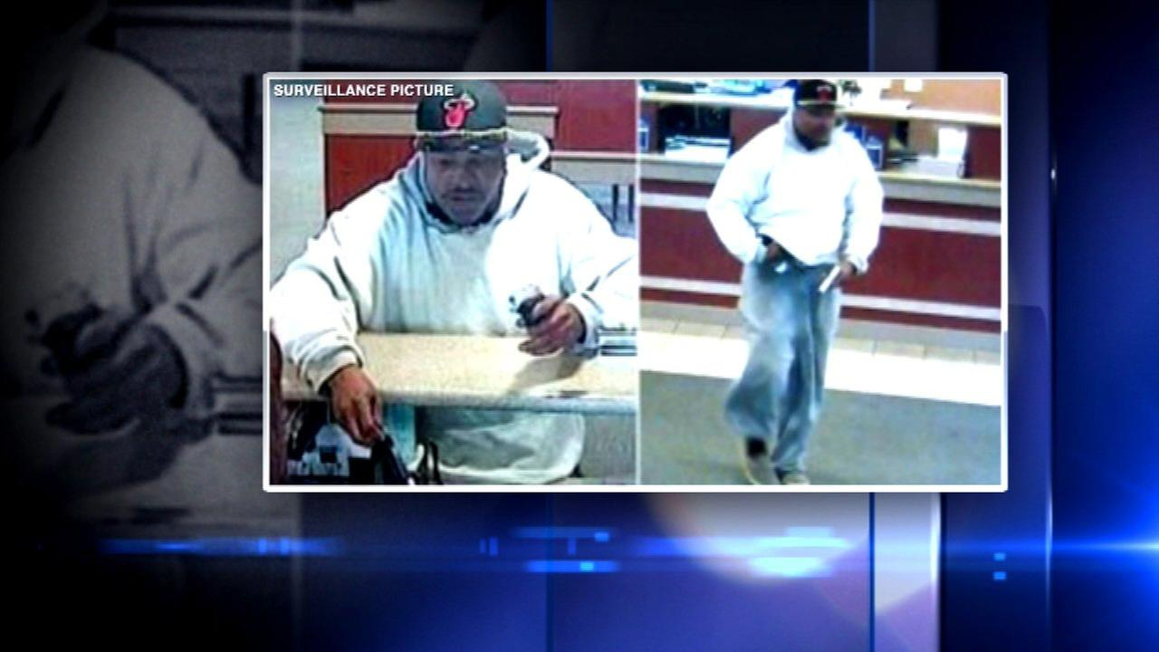 FBI releases pictures of suburban bank robbery suspect