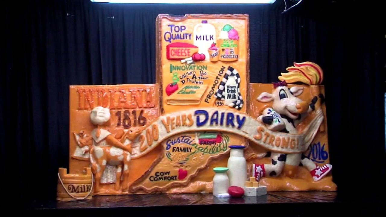 Cheese sculpture unveiled at Indiana State Fair