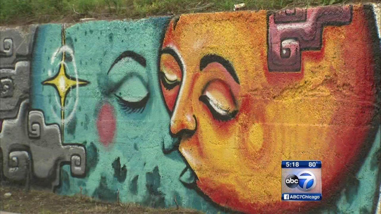 Murals painted to combat gang violence