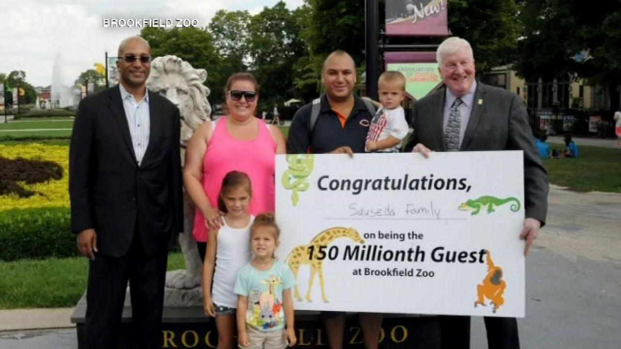 Brookfield Zoo welcomes 150 millionth guest