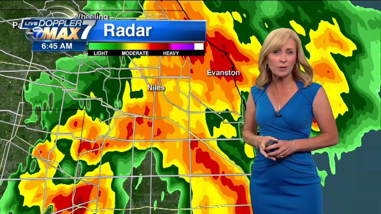 Chicago Weather Thunderstorms Cause Flooding On Edens Expressway - Chicago radar weather