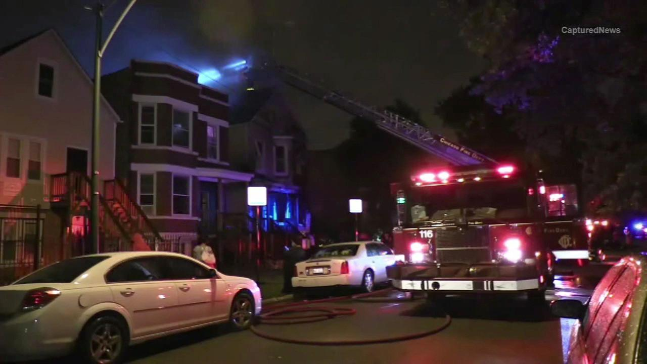 The Chicago Fire Department on the scene of a fatal fire in the Back of the Yards neighborhood.
