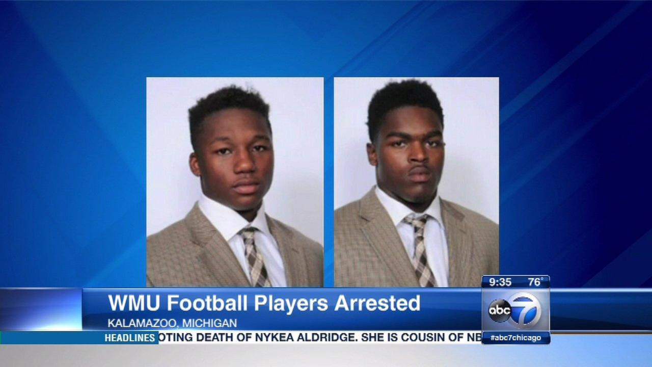 Bryson White, 20, and Ron George, 18, were arrested at Western Michigan University Friday.