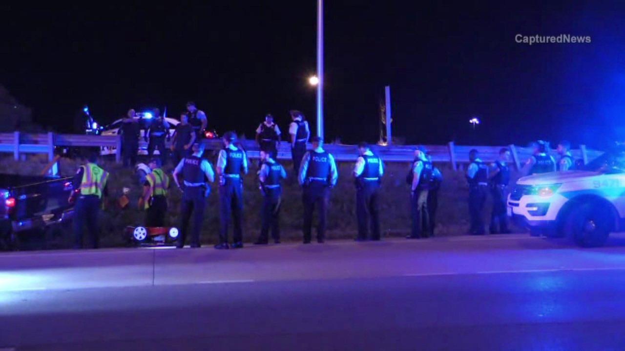 Burnham police chase ends in Bishop Ford crash