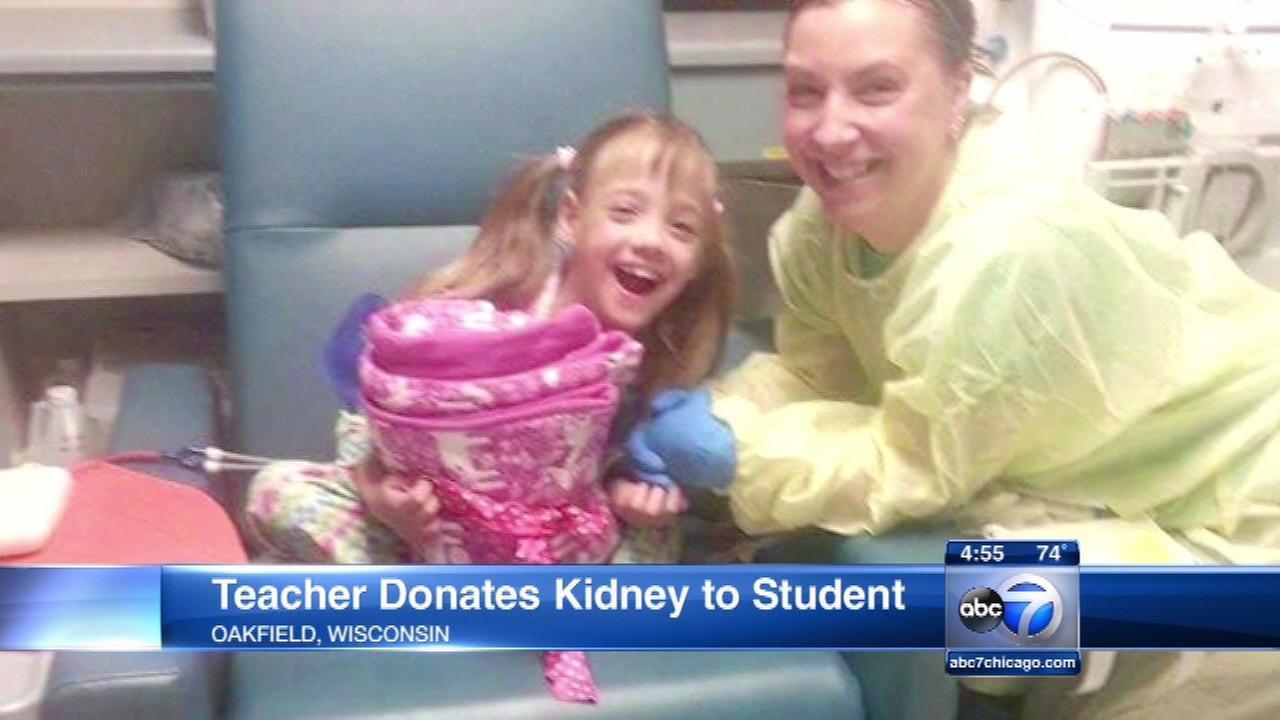 Wisconsin teacher donates kidney to student