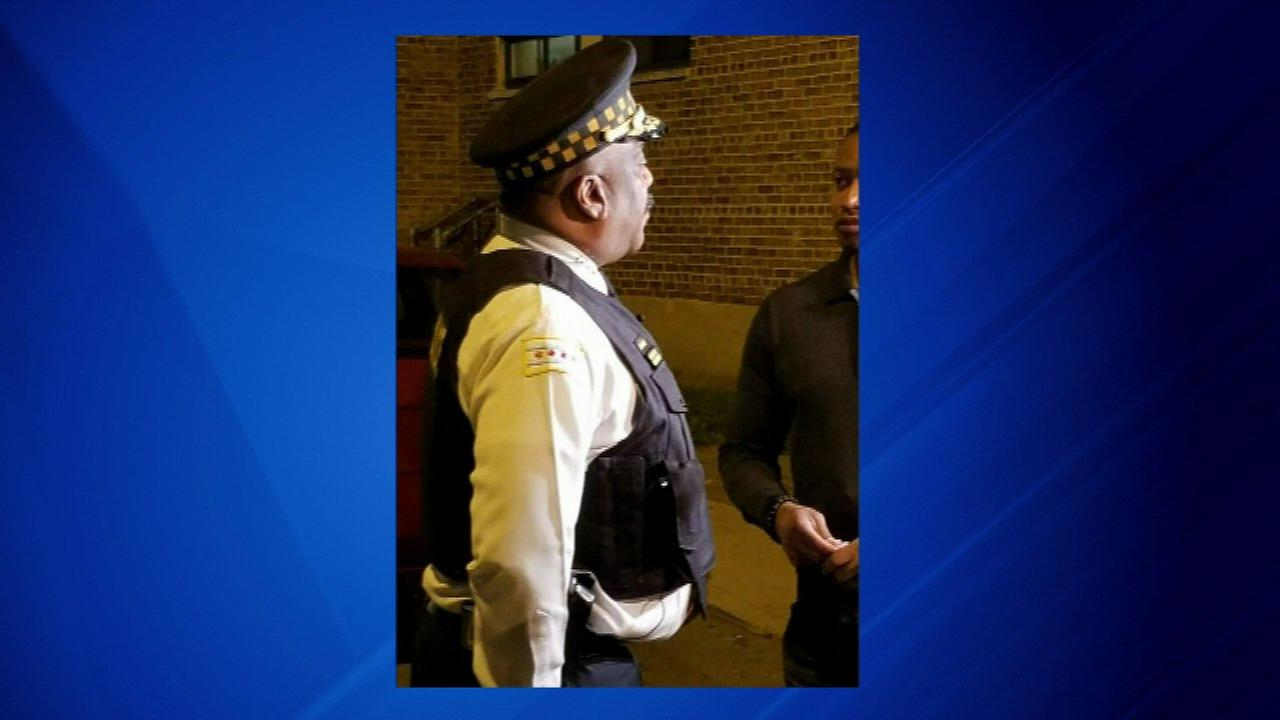 Supt. Eddie Johnson goes out on patrol as Labor Day weekend gets underway