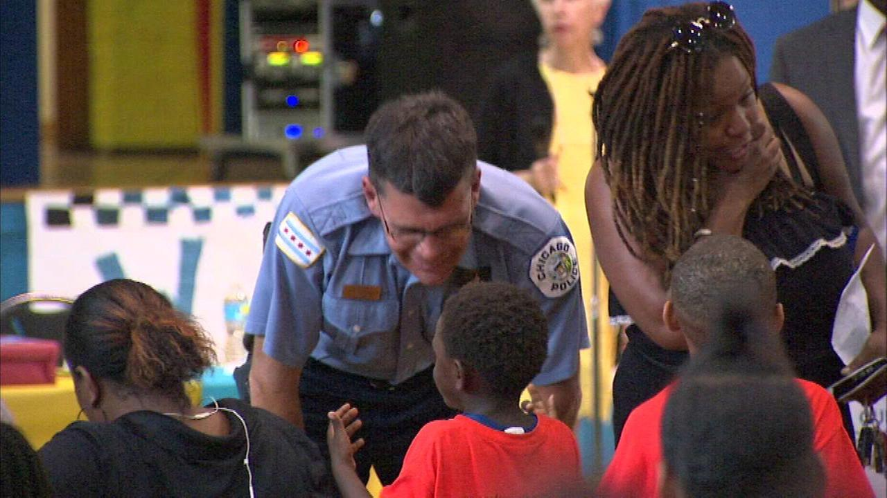 West Englewood school honors CPD officer