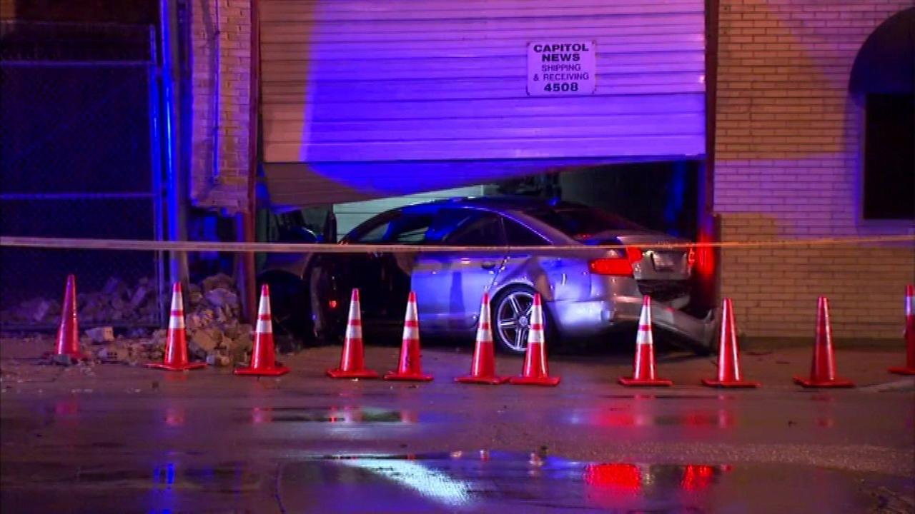 Driver critical after car crashes into building in Mayfair