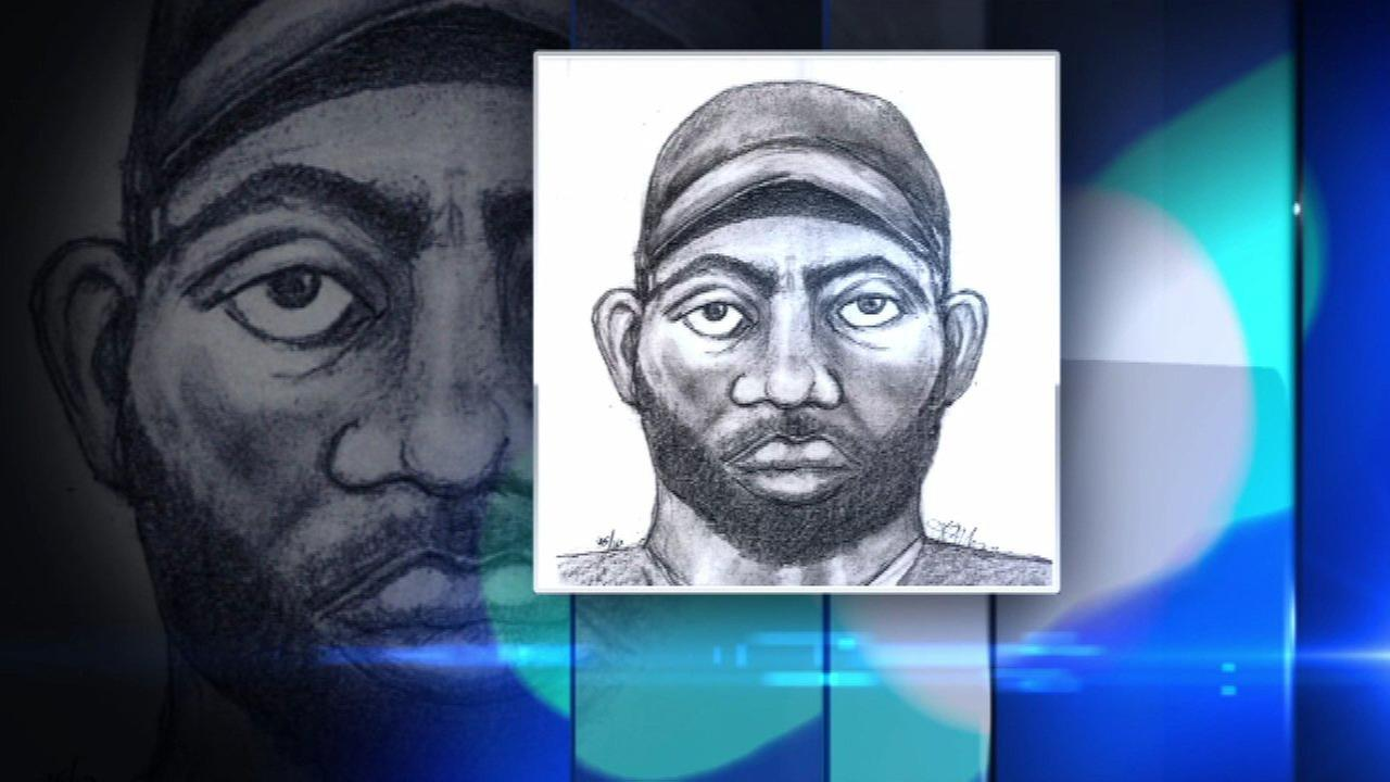 Sketch released of man who attacked postal worker