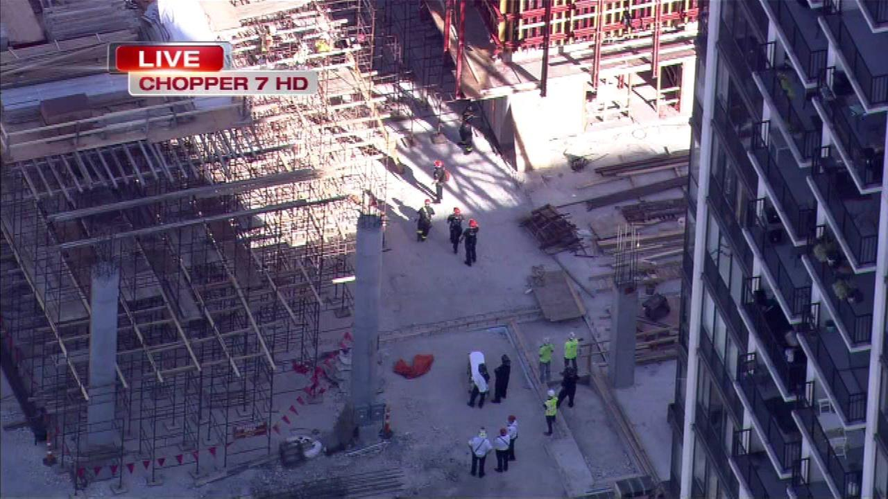 Construction worker injured in fall in West Loop