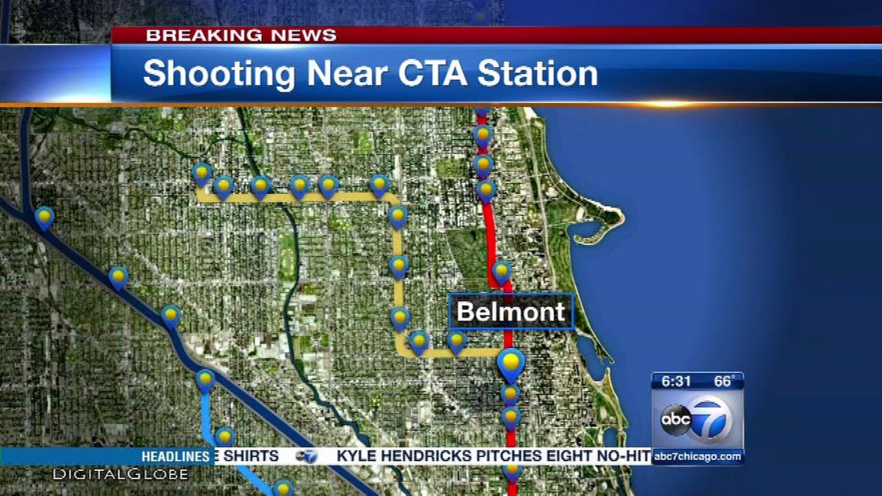Man reportedly shot near CTA Belmont stop in Lakeview in custody, alderman says