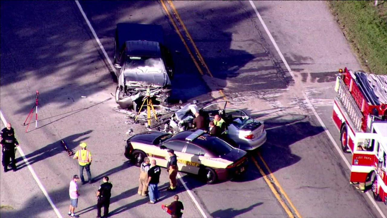 Man killed in 2-vehicle crash in Lake Station