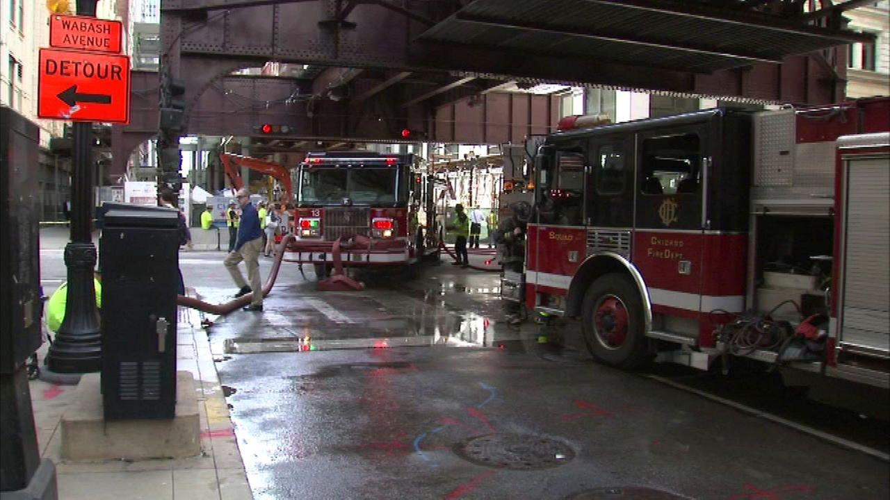 A gas leak in Chicagos Loop halted CTA service on the elevated tracks and blocked traffic late Thursday morning.