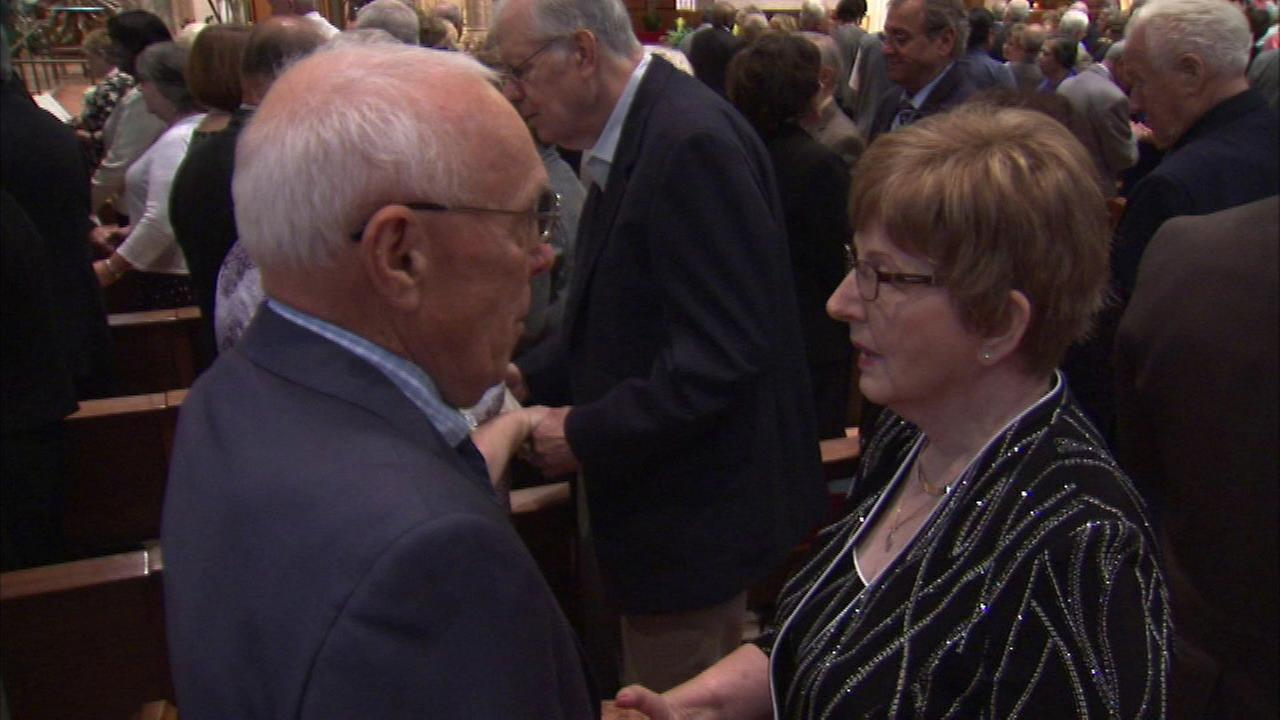 Couples and their loved ones gathered at Holy Name Cathedral for the annual golden wedding anniversary mass.