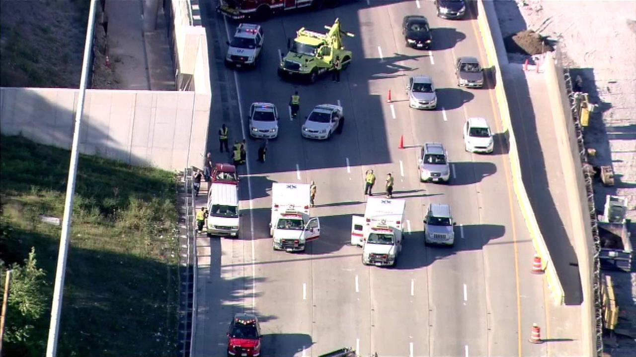 A crash on the Dan Ryan Expressway near 95th Street on Chicagos South Side.