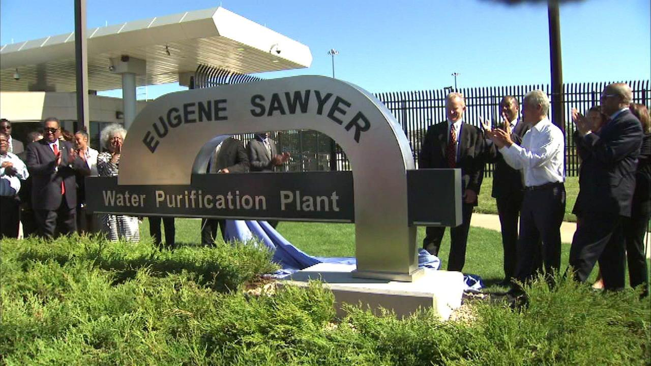 Water purification plant renamed for former Chicago Mayor Eugene Sawyer