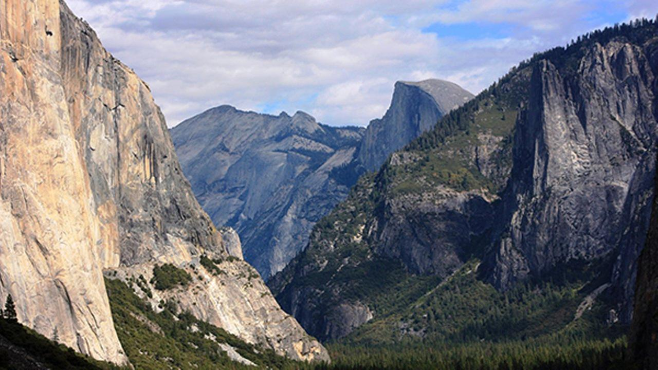 In this 2013 file photo taken by Tammy Webber, a scenic view on her way to Glacier Point trail in the Yosemite National Park, Calif. is seen.