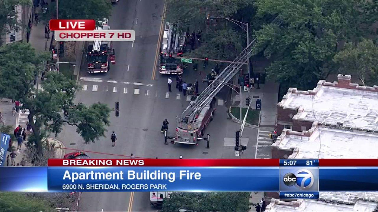 Emergency crews were called to the scene of a fire Thursday on Chicagos North Side.