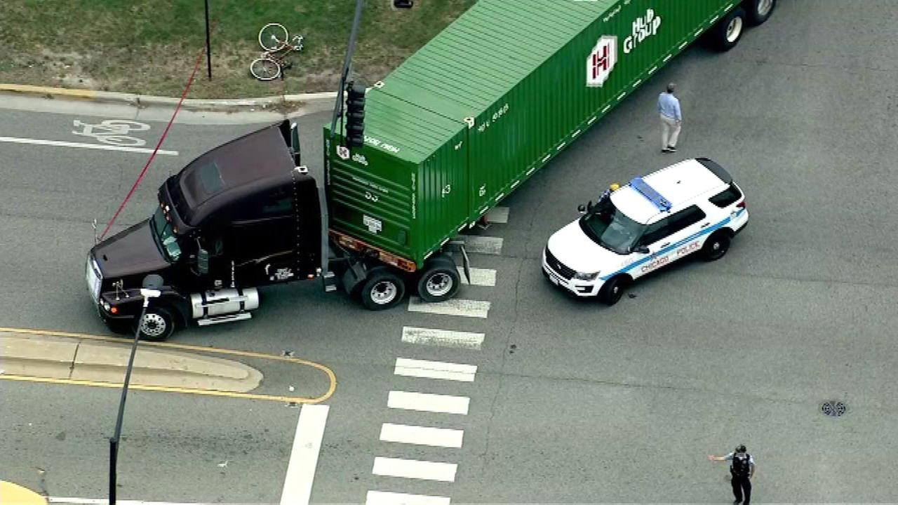 Bicyclist seriously injured in West Side truck crash