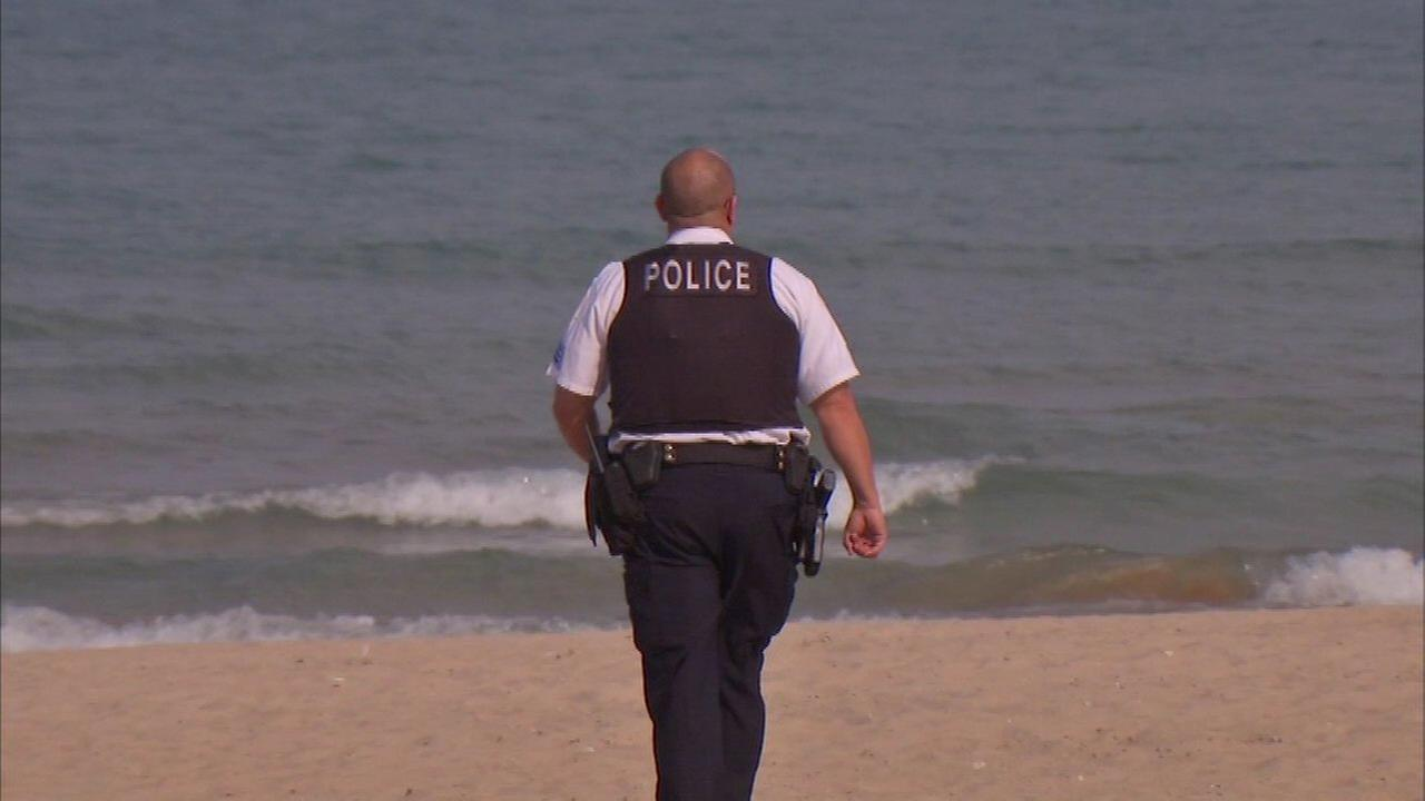 A woman died Sunday after being rescued from Lake Michigan.