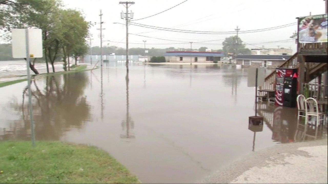 Thousands had to be evacuated in Cedar Rapids, Iowa because of flooding.