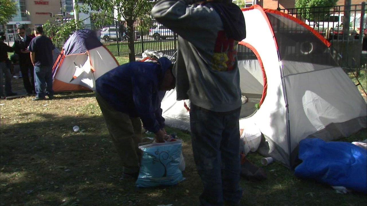 Uptown homeless encampment evicted after sale to developer