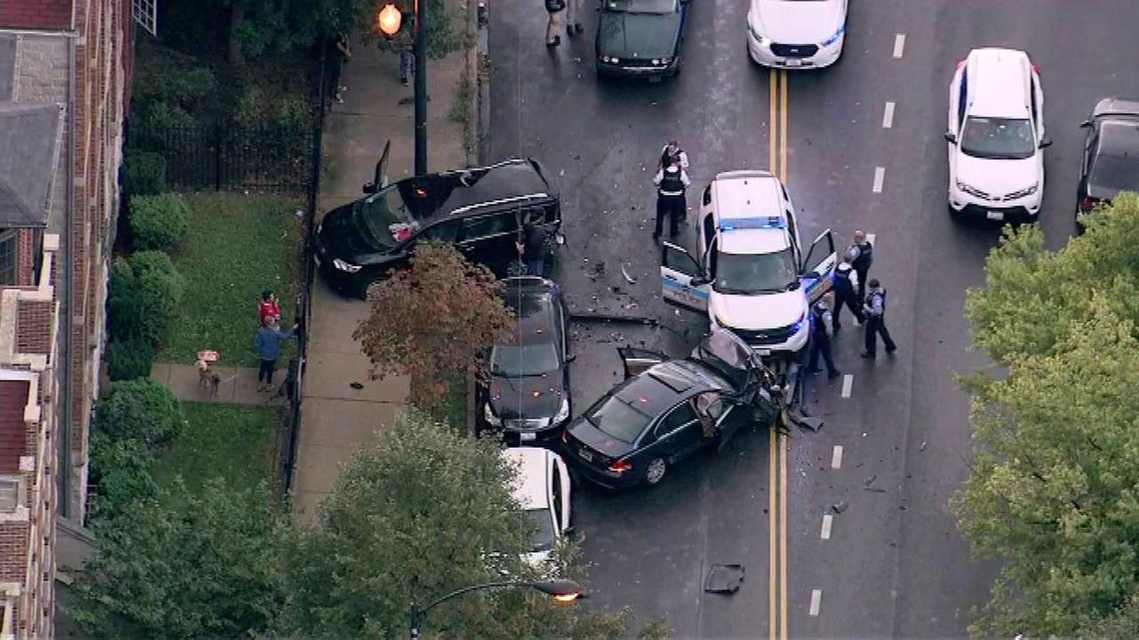 Man on run after West Side police chase ends in crash