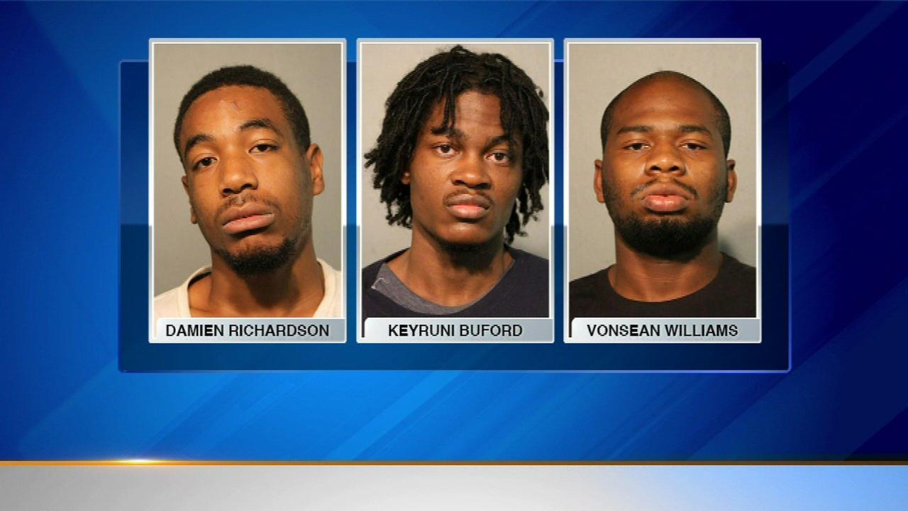 3 charged in Boystown attack, robbery