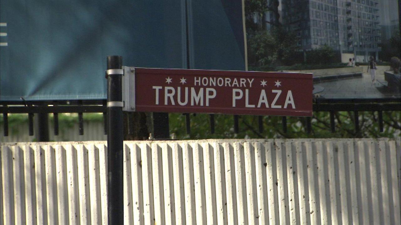 Chicago aldermen seek to remove street sign honoring Trump