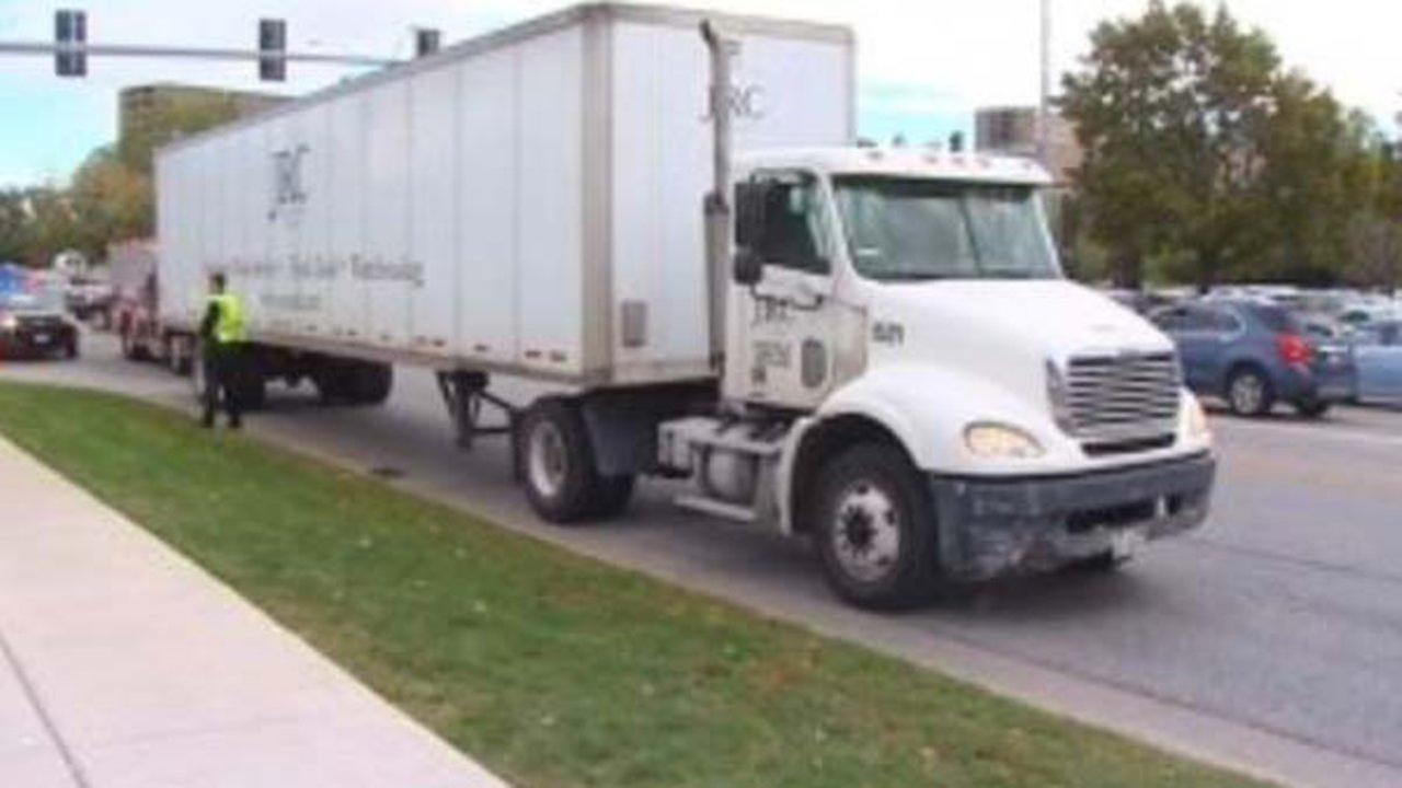 A woman and two children were hit by a semi Friday afternoon in north suburban Skokie.