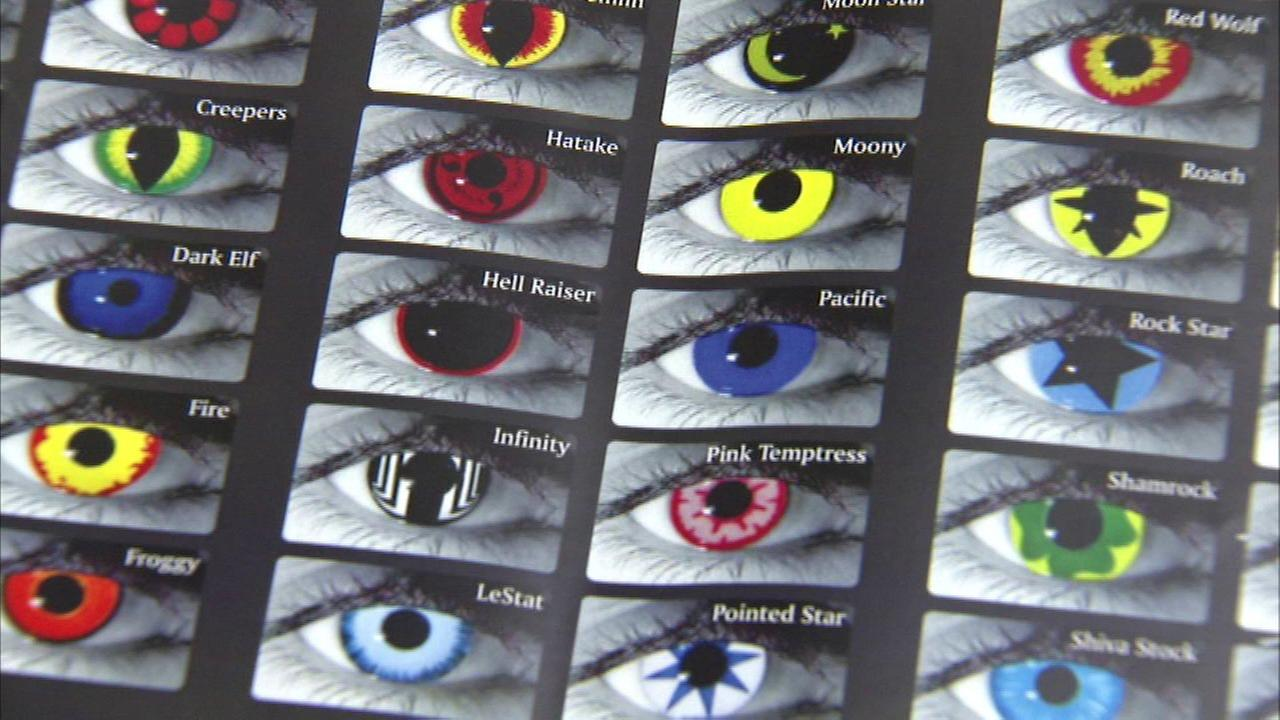 Colored contacts could permanently damage eyes, officials say
