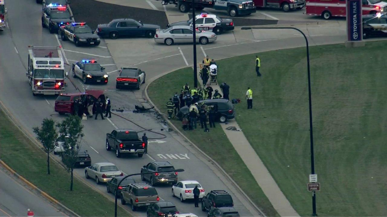 One injured after crash in Bridgeview near Toyota Park