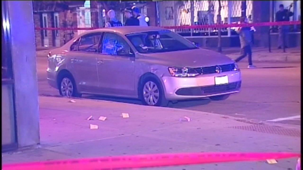 Two men were shot near the CTA Red Line Belmont station Saturday morning.