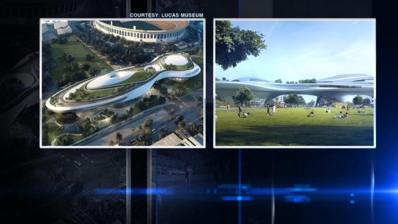 Renderings released for Lucas Museum California locations.