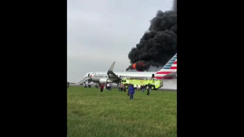 Injuries as American Airlines Boeing 767 Evacuated at O'Hare