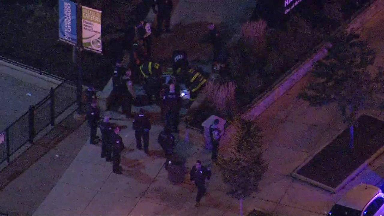 1 critically injured in shooting outside Truman College