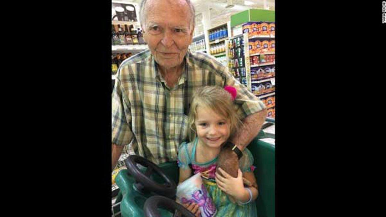 Birthday girl befriends forlorn widower at grocery store, lifts spirits