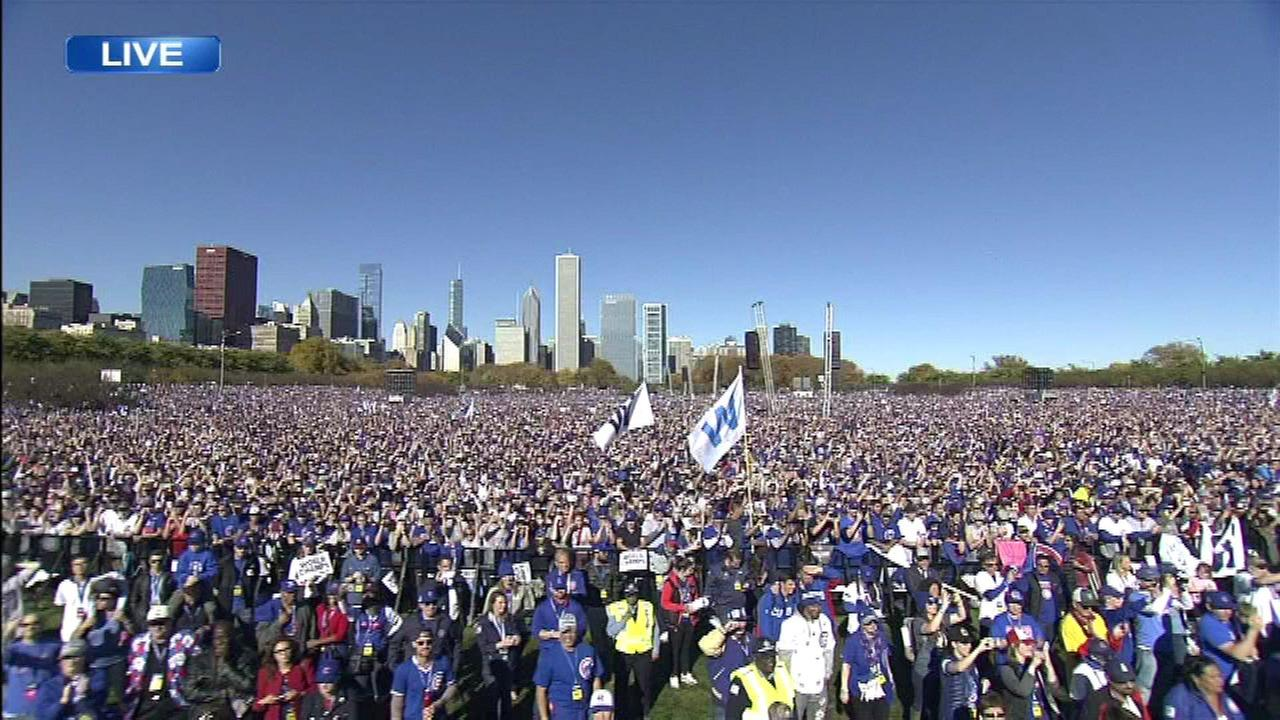 PHOTOS Chicago Cubs World Series victory parade abc7chicagocom