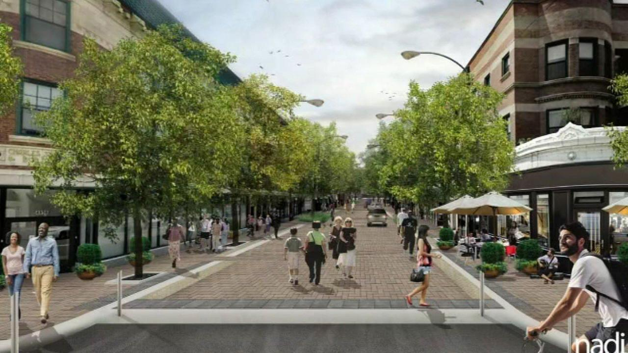 A rendering of a shared street on a stretch of Argyle Street.