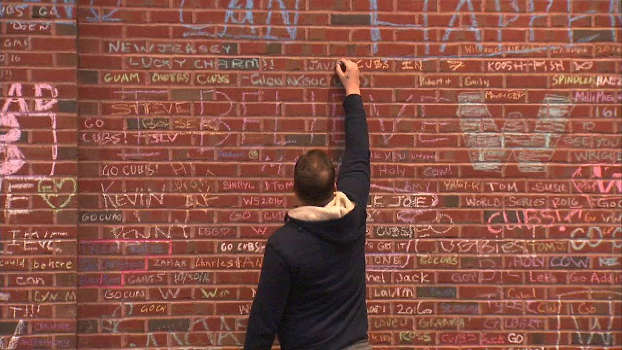 Wrigley Field chalk messages will be removed Tuesday