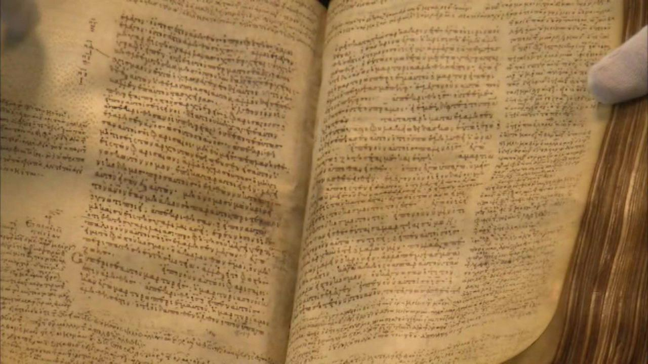 Rare Greek manuscript of the New Testament