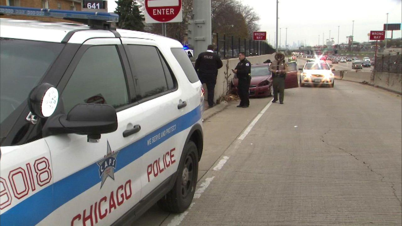 Thursday afternoon and chased the suspects until they crashed on the Dan Ryan Expressway on the South Side.