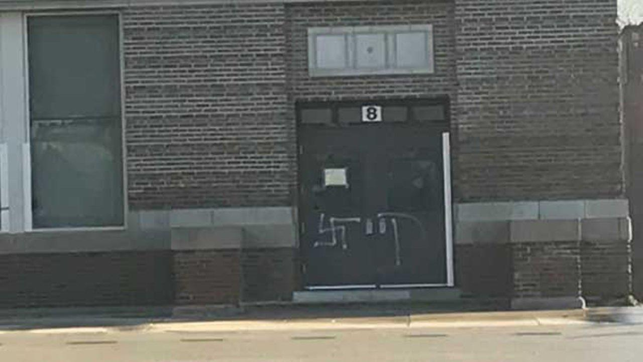 A swastika was found painted on an entrance to an elementary school on Chicagos West Side.