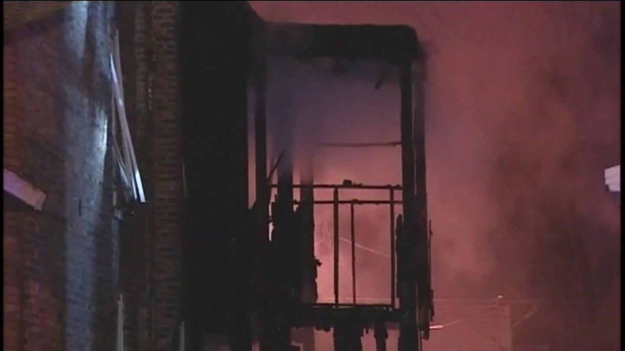 No one was injured in the fire in a 2-and-a-half story building on the West Side Saturday.