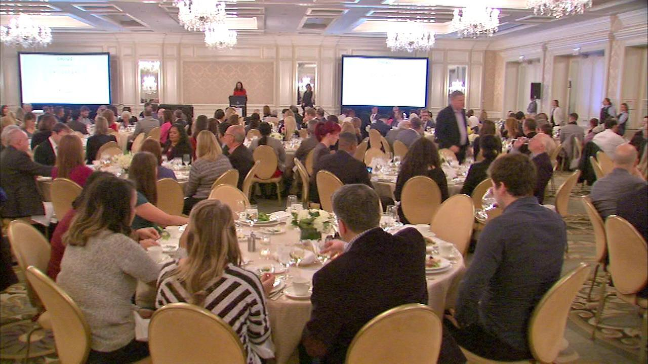 The luncheon honoring the Chicagoans of the Year was held at the Four Seasons.