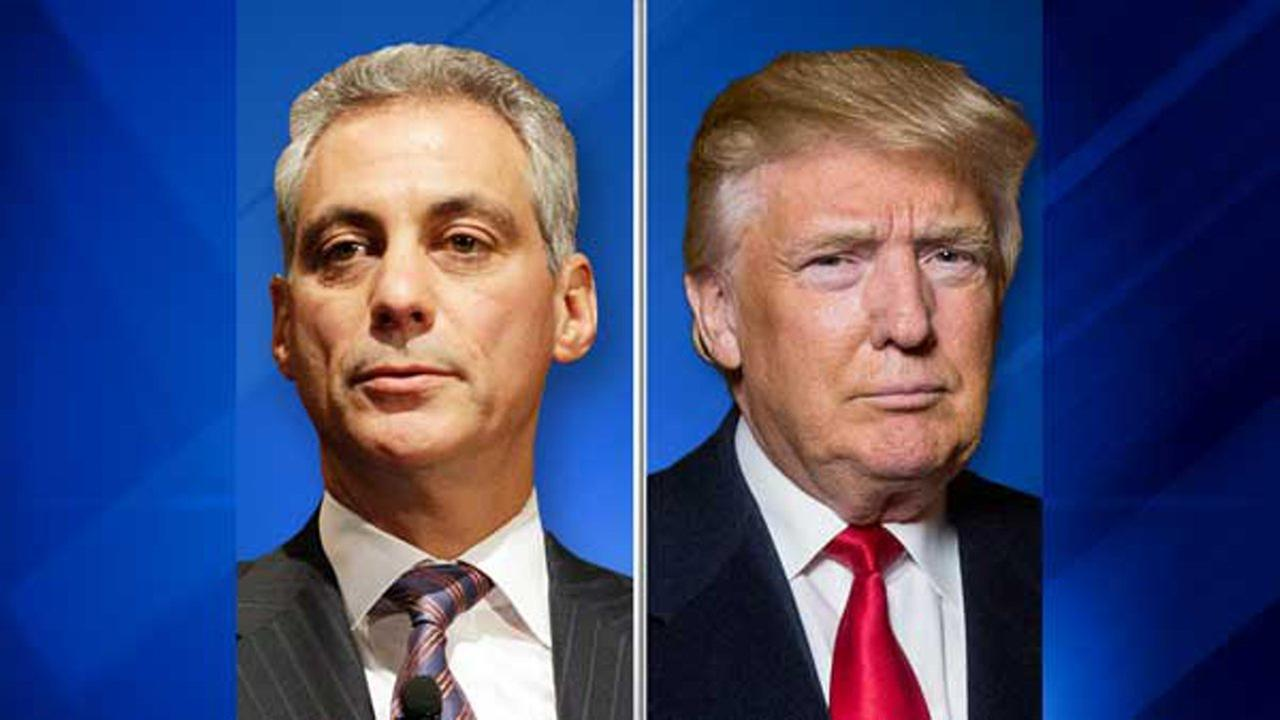 Chicago Mayor Rahm Emanuel and President-elect Donald Trump.